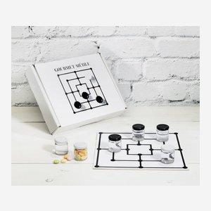 Mühle Geschenkset: Karton mit Spielbrett