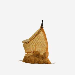 Netzsack gelb 5kg mit Zugband, neutral