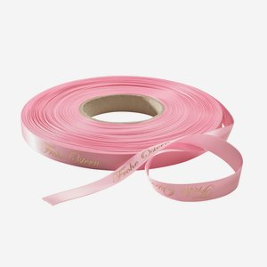 "Satinband rosa, HP Gold ""Frohe Ostern"""