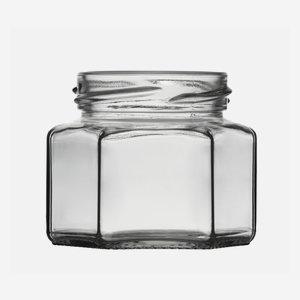 Sechskantglas 106ml, Weißglas, Mdg.: TO53