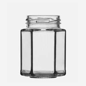 Sechskantglas 116ml, Weißglas, Mdg.: TO48