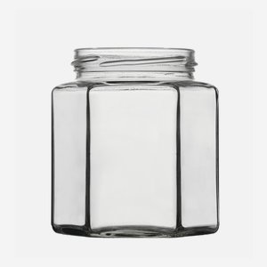 Sechskantglas 390ml, Weißglas, Mdg.: TO70