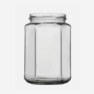 Sechskantglas 720ml, Weißglas, Mdg.: TO82