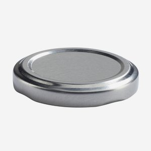 TWIST-OFF DECKEL PVC-frei, ø53mm, silber