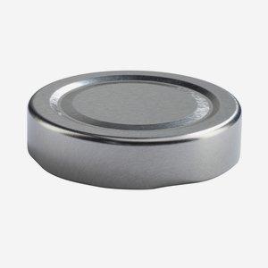 TWIST-OFF DECKEL PVC-frei, ø58mm, DE, silber