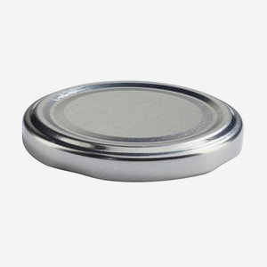 TWIST-OFF DECKEL PVC-frei, ø63mm, silber