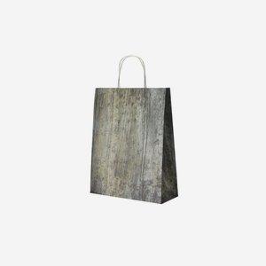 Papiertragetasche mit Holzoptik, 360/280/110