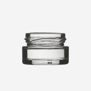 Schraubglas 22ml, Weißglas, Mdg.: TO43
