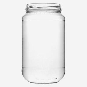 Schraubglas 580ml, Weißglas, Mdg.: TO70