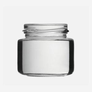 Schraubglas 108ml, Weißglas, Mdg.: TO53