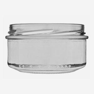 Schraubglas 189ml, Weißglas, Mdg.: TO82