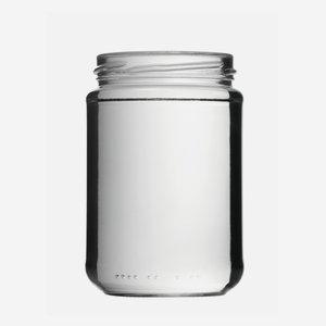 Schraubglas 390ml, Weißglas, Mdg.: TO70