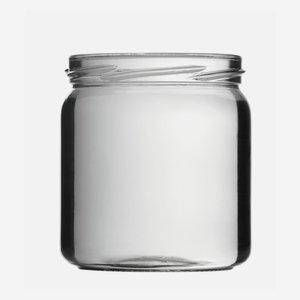 Schraubglas 405ml, Weißglas, Mdg.: TO82