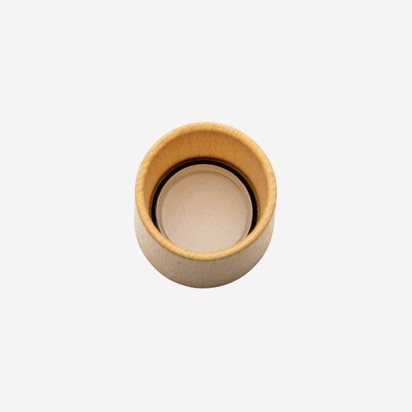Holz-Alu-Schraubverschluss GPI 28 exklusiv, natur