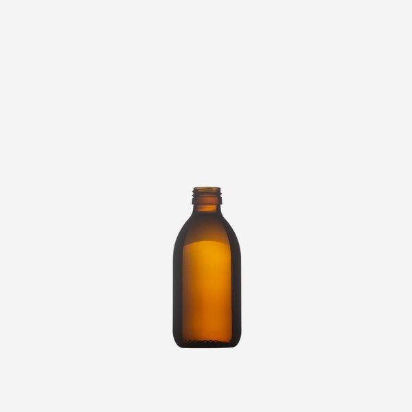 Medizinflasche aus Braunglas, 250ml, Mdg.: PP 28