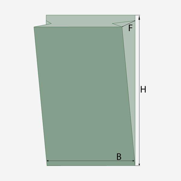 Sichtfensterseitenfaltenbeutel 4kg, 100% Papier