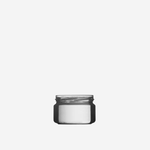 Schraubglas 250ml, Weißglas, Mdg.: TO82