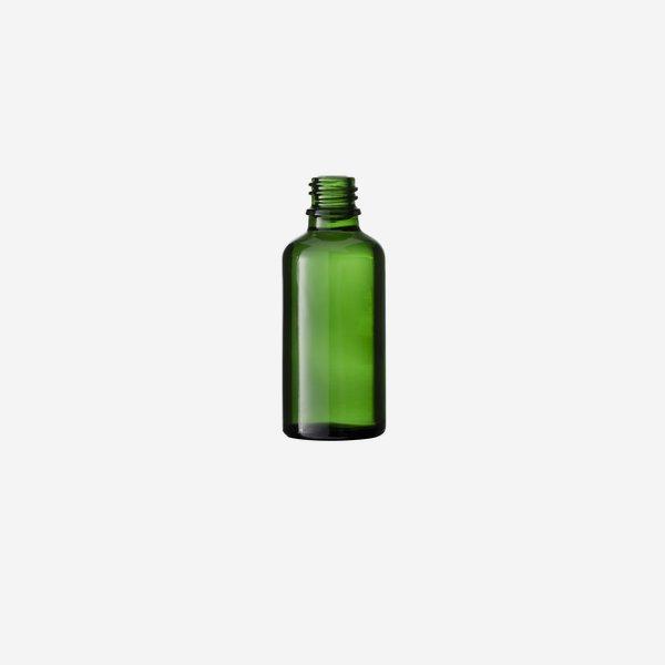 Tropfflaschen aus Grünglas, 50ml, Mdg.: gl-18
