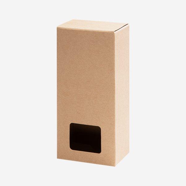 Blitzbodenbox, Fenster, braun, L10 x B6,3 x H24