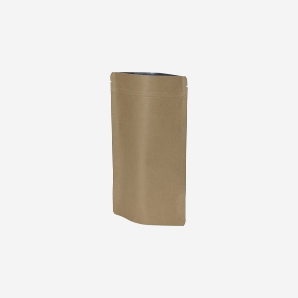 Standbeutel, braun, H225 x B130 + T70 mm